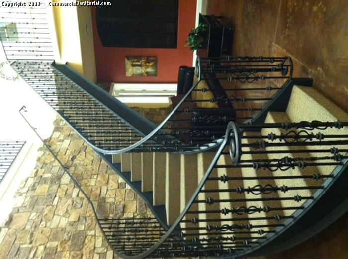 If you have unique office cleaning or floor care needs, we are here to help. This beautiful staircase was made even more exquisite after a thorough job by our office cleaning crew. Our floor care services include stairs, so contact our office cleaning staff to get set up and get your business looking sharp from the inside out.
