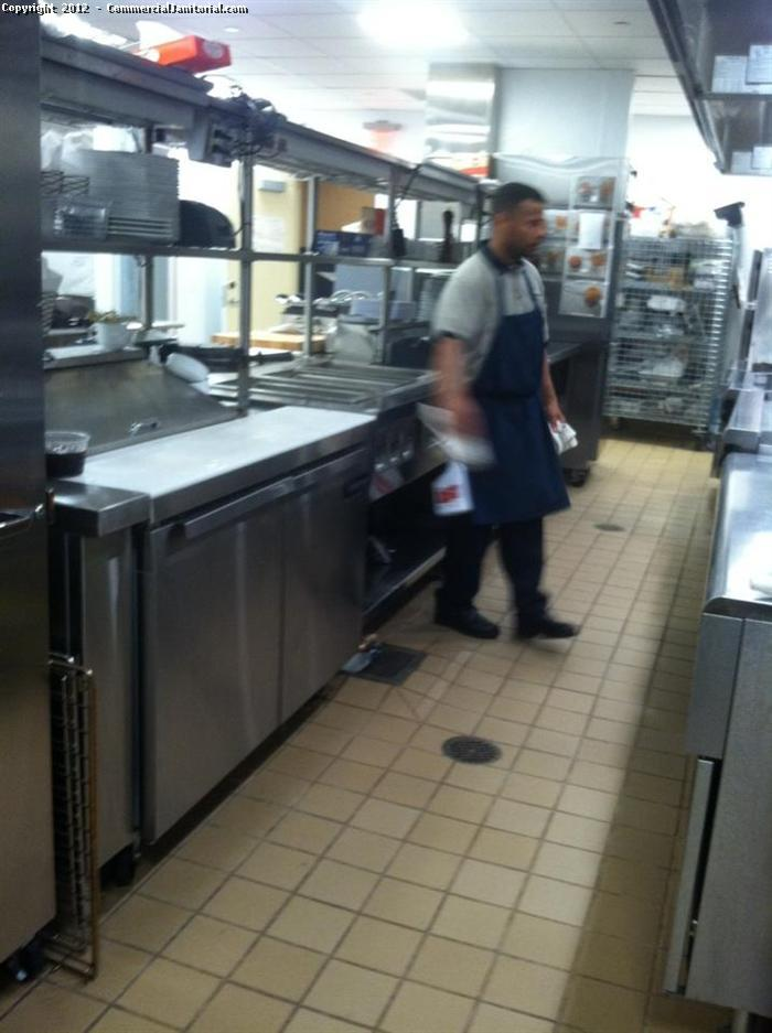 Commercial Kitchen Floor Cleaning 2