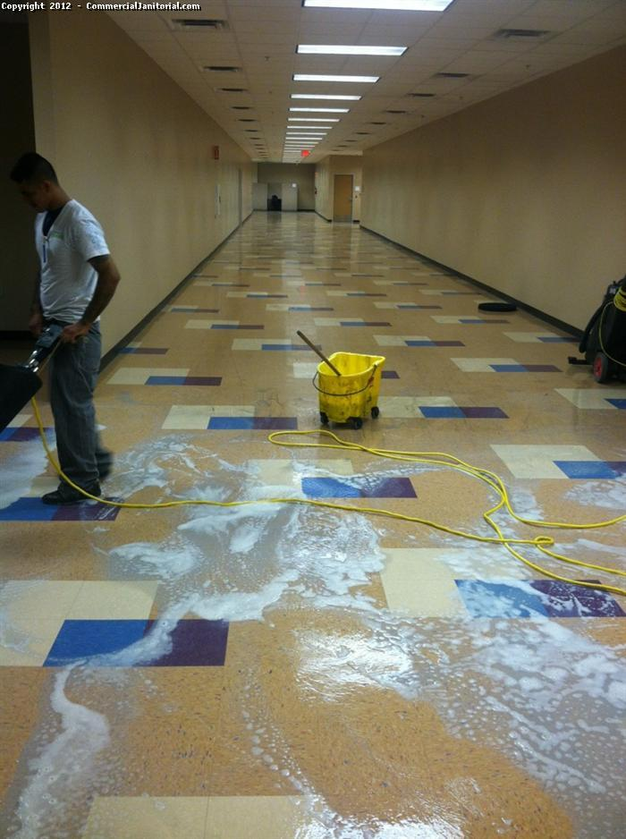 Vinyl composition tile vct floor cleaning image for Floor cleaning