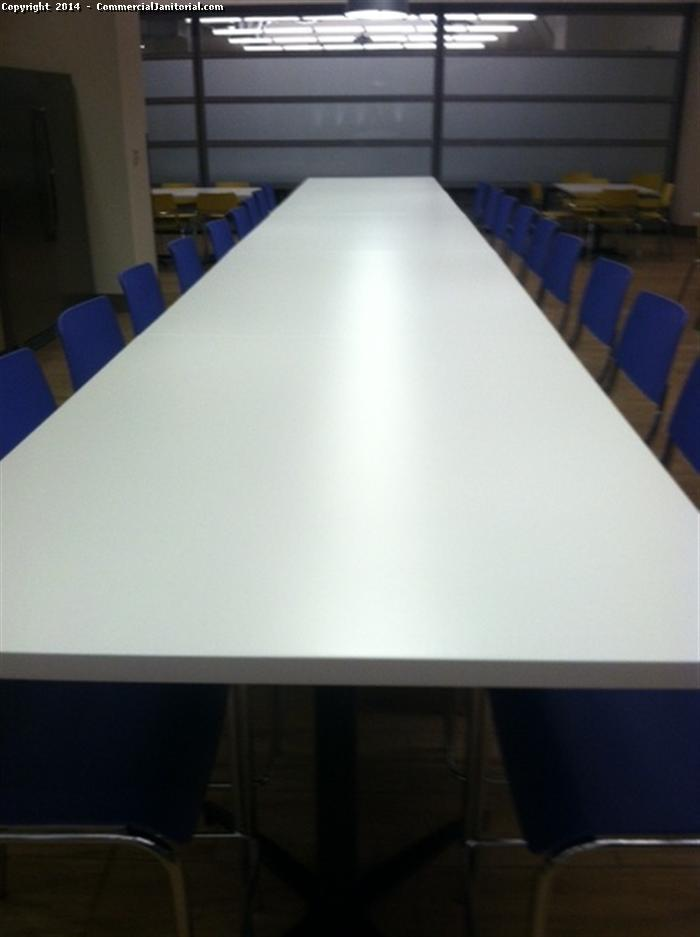 A round table meeting hall is cleaned by our commercial janitorial crew. Meeting hall is the first impression to any client. We will make sure your business gives productivity by our satisfied work.