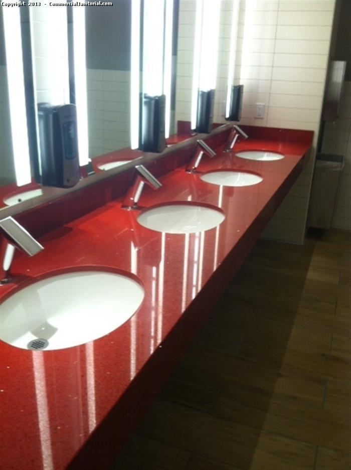 It is considered one of the most significant rooms to clean in any business / facility: The restroom. Our service includes pressure washing of floors and mirrors including polishing and mopping.