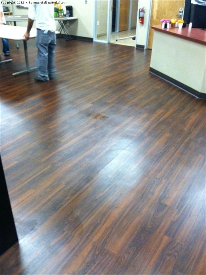 Stripping And Waxing Wood Floor Image