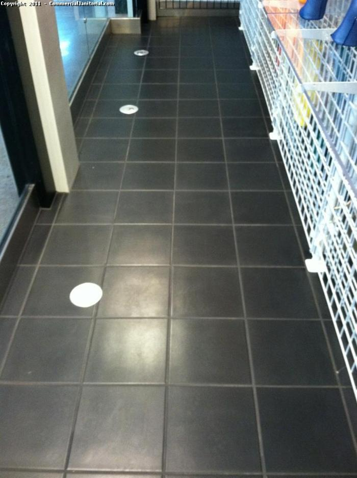 This picture was taken after the tile was cleaned and sealed.