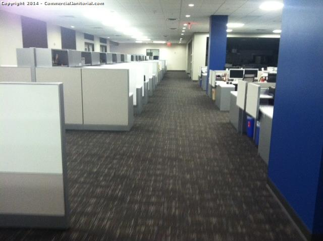 Cubicle Cleaning Services : Office with lots of cubicles that we clean accounting