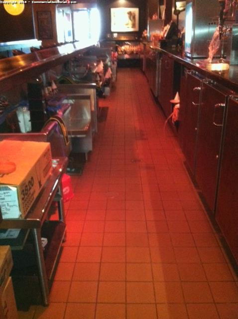 Bar Cleaning Service : Boh kitchen floor cleaning janitorial service image