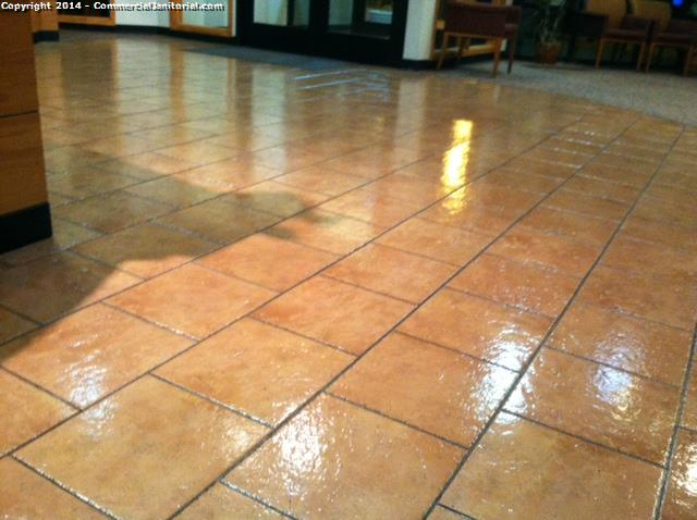 a commercial cleaning company can give your tile cleaning a wet look (although not recommended)