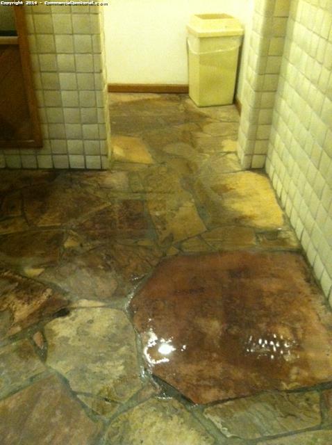 Restroom Floors Are Flagstone Image