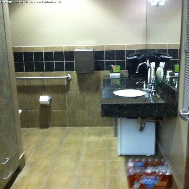 11/25/14  Ashley T. performed inspection at account.  The crew did a great job of wiping down all touchpoints in restrooms.  Nice work team!!  The client will be happy.  Ashley T.