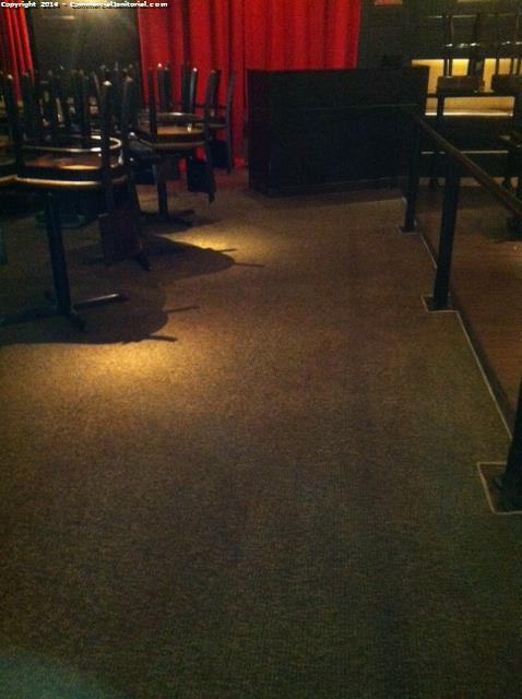 Shampoo carpets at a restaurant as part of our full restaurant cleaning service