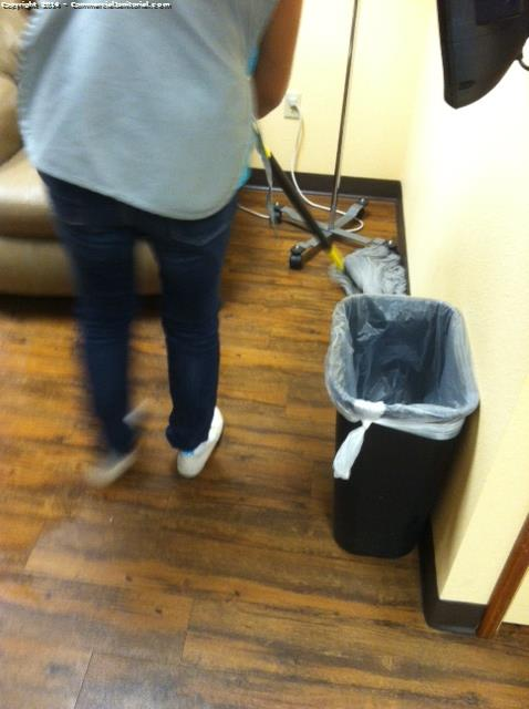 a janitorial company should mop from wall to wall when cleaning an office