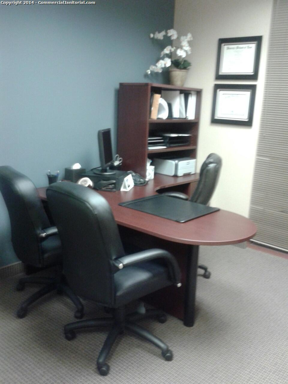 12/1- Ashley J. performed inspection  The crew did a great job of wiping down the touch points in the executive office.  The client will be thrilled.  Nice work team!!  Ashley J.