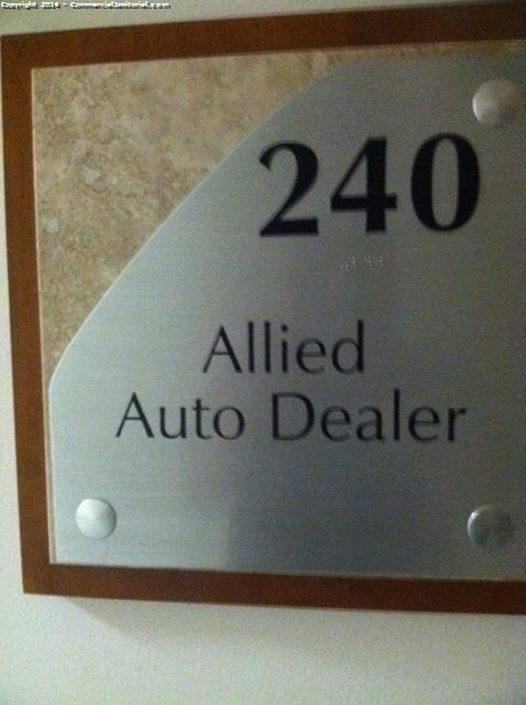 6-4-14 Cleaner/ Laura Madrid Cleaners present during inspection We try again to open the door for the suite # 240 Allied Auto Dealer We don