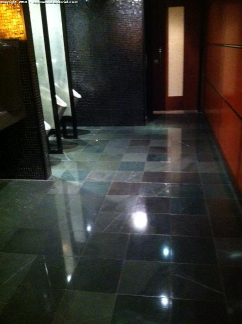 Our janitorial and cleaning company specializes in cleaning the restrooms in a restaurant kitchen
