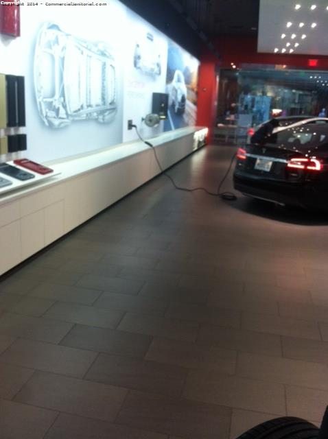 Tesla store cleaning
