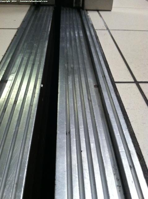 detail cleaned elevator tracks image
