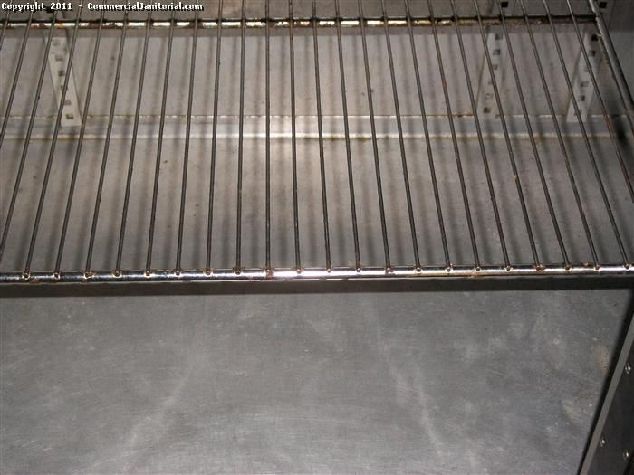 Cleaning racks in a commercial restaurant and kitchen