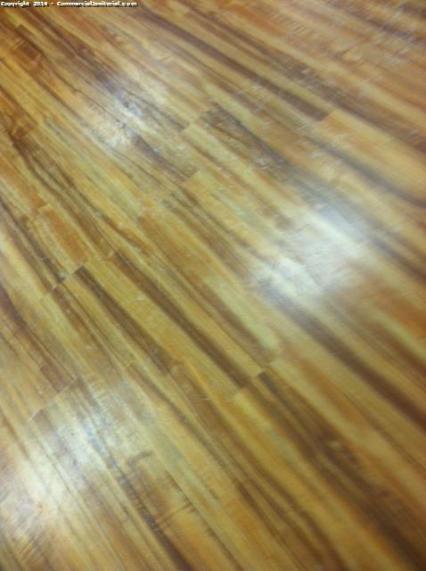 Machine Scrub Wood Floors With Minimal Water Image