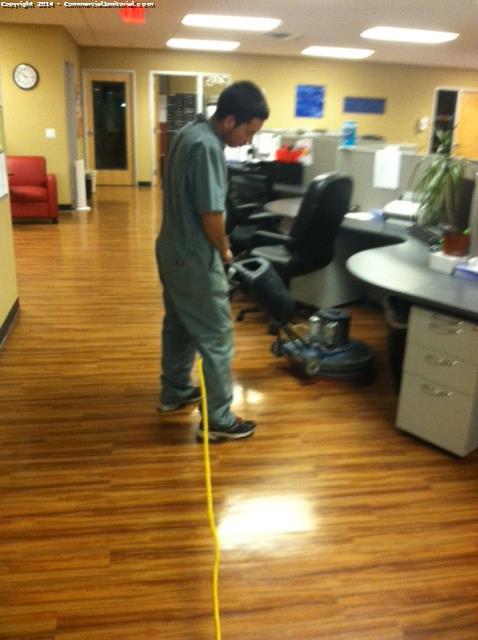 Wood Floor Scrubbed Image