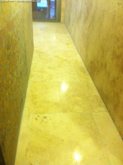 Scrub grout and polish