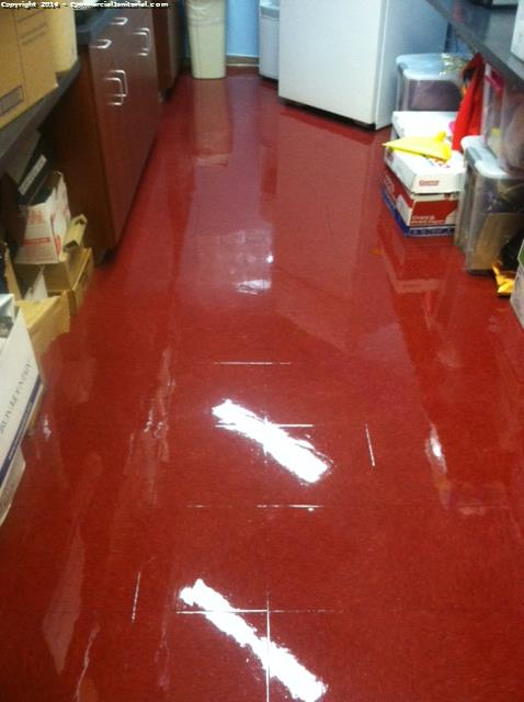 scrub and wax vct floors image