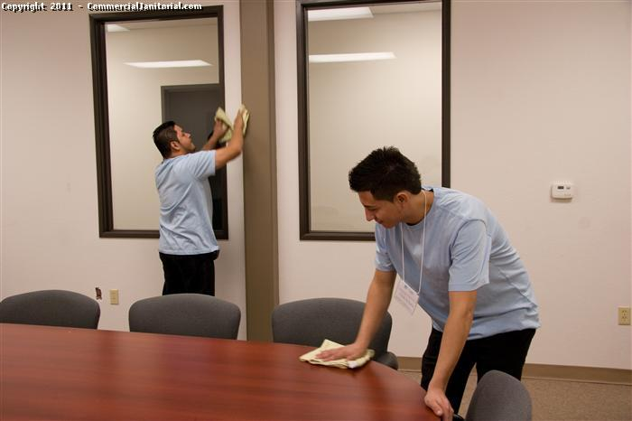 Team cleaning techniques allow multiple office cleaning personnel to operate far more efficiently than 1 person.