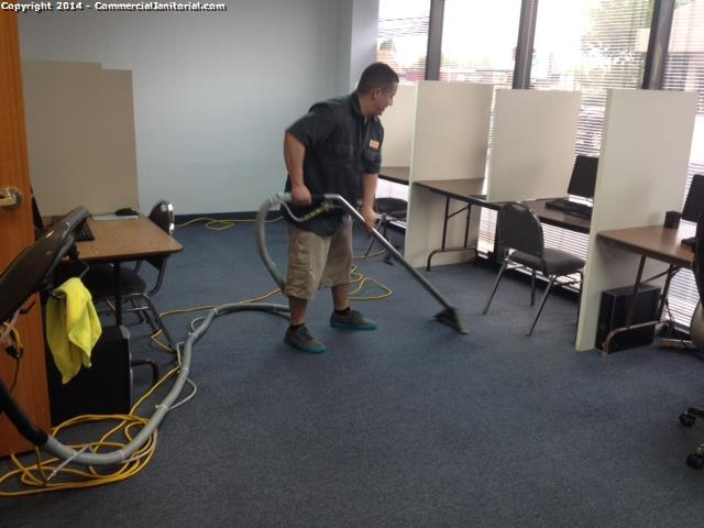 Emergency carpet extraction was completed , per customers request . The carpets came out great ; client was satisfied