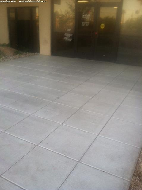 Came to site to check on floors every thing looks good . Also ceramic tile looks great. Out side side walks were also done with the side by side and also power washed. There was some gum that I had to remove. But besides that every thing looks great.