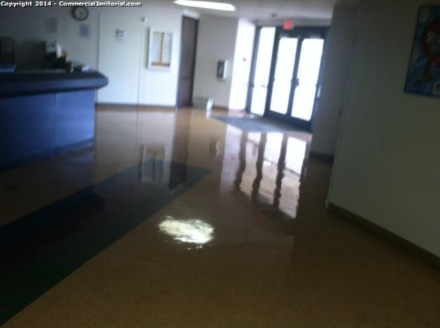 VCT burnish medical office cleaning