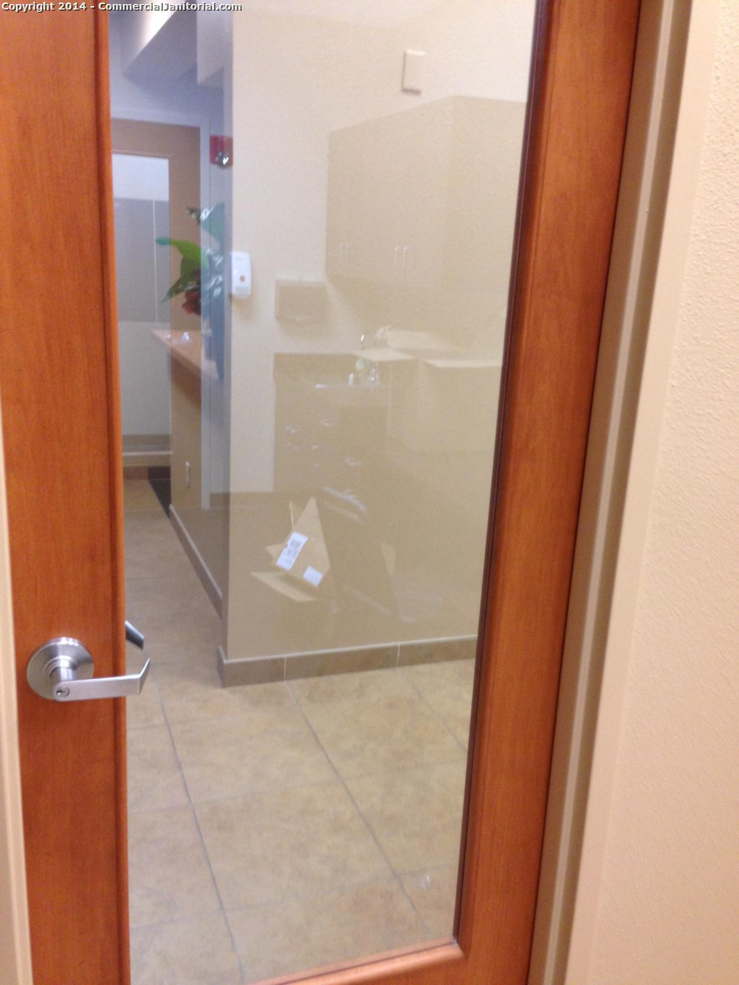 10/22/14  Laura R. performed inspection at account.  The crew did a great job of wiping interior glass and door frames.  Client will be super happy.  Nice work team!  Laura R.