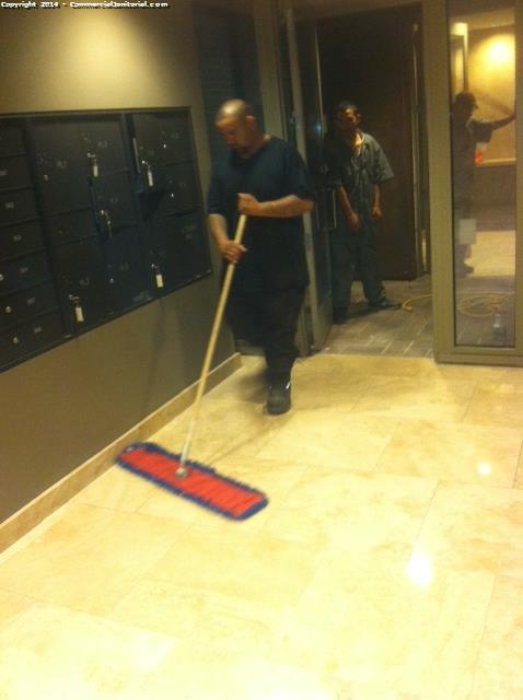 dust mop floors before cleaning the floors
